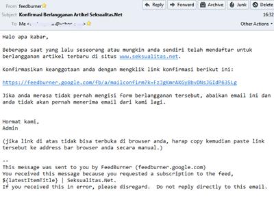 Klik link konfirmasi yang terkirim ke email anda.