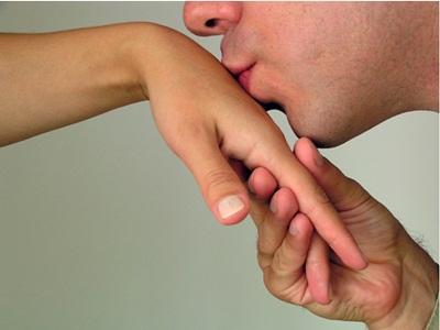 Jenis ciuman ke tangan