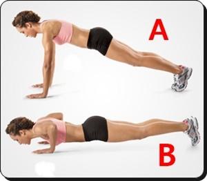 Olahraga push up untuk mengencangkan payudara