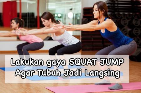 Posisi bercinta squat jump turunkan berat badan