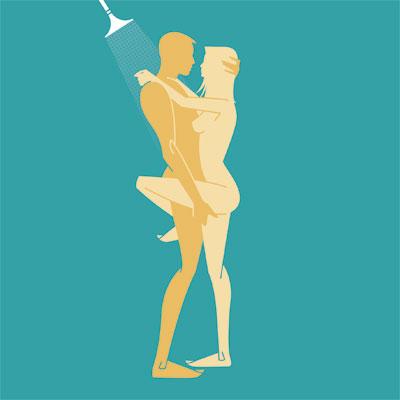seks berdiri shower