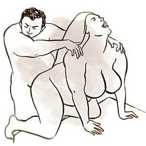 Posisi seks doggy style untuk pria berat badan gemuk