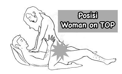 Posisi seks woman on top menurunkan berat badan