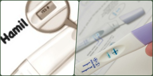 Menggunakan test pack untuk memastikan kehamilan wanita