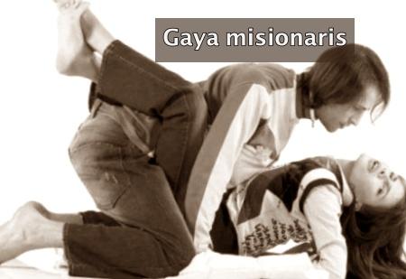 Posisi seks misionaris sama dengan olahraga