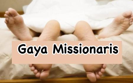 Posisi seks misionaris disukai wanita